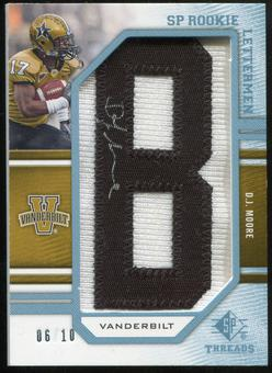 2009 Upper Deck SP Threads Rookie Lettermen College Autographs #215 D.J. Moore* Autograph /100