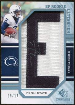 2009 Upper Deck SP Threads Rookie Lettermen College Autographs #219 Derrick Williams* Autograph /126