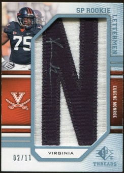 2009 Upper Deck SP Threads Rookie Lettermen College Autographs #221 Eugene Monroe* Autograph /88