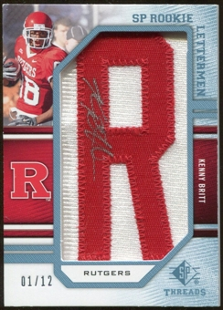 2009 Upper Deck SP Threads Rookie Lettermen College Autographs #235 Kenny Britt* Autograph /84