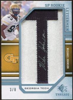 2009 Upper Deck SP Threads Rookie Lettermen College Autographs #243 Michael Johnson* Autograph /88
