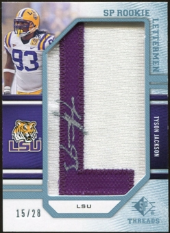 2009 Upper Deck SP Threads Rookie Lettermen College Autographs #258 Tyson Jackson* Autograph /84