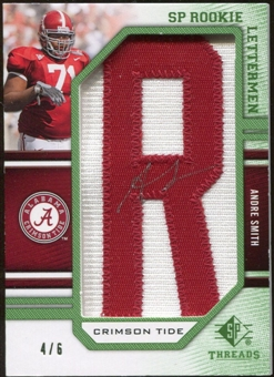 2009 Upper Deck SP Threads Rookie Lettermen College Nickname Autographs #204 Andre Smith* Autograph /66