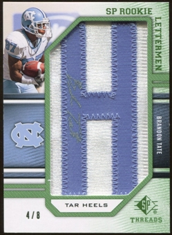 2009 Upper Deck SP Threads Rookie Lettermen College Nickname Autographs #251 Brandon Tate* Autograph /64