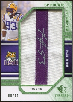 2009 Upper Deck SP Threads Rookie Lettermen College Nickname Autographs #258 Tyson Jackson* Autograph /66