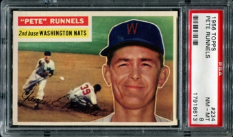 1956 Topps Baseball #234 Pete Runnels PSA 8 (NM-MT) *8613