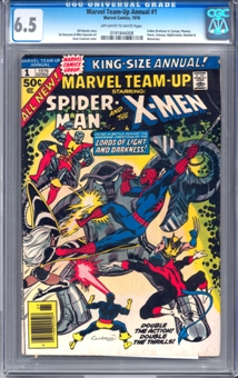 Marvel Team-Up Annual #1 CGC 6.5 (OW-W) *0191844008*