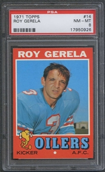 1971 Topps Football #14 Roy Gerela PSA 8 (NM-MT) *0926