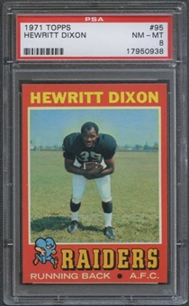 1971 Topps Football #95 Hewritt Dixon PSA 8 (NM-MT) *0938