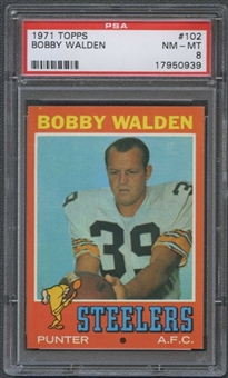 1971 Topps Football #102 Bobby Walden PSA 8 (NM-MT) *0939