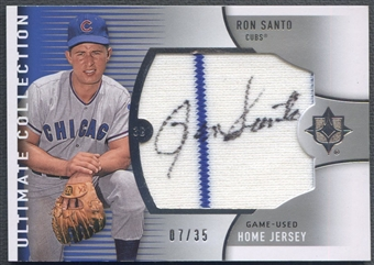 2008 Ultimate Collection #RS Ron Santo Home Jersey Auto #07/35