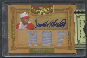 2008 Prime Cuts #6 Frank Robinson Icons Signature Materials HOF Jersey Auto #1/1