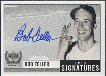 1999 Upper Deck #BF Bob Feller Century Legends Epic Signatures Auto