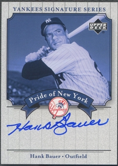 2003 Upper Deck Yankees Signature #HB Hank Bauer Pride of New York Auto