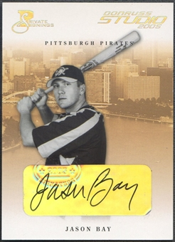 2005 Studio #224 Jason Bay Private Signings Silver Auto #040/100