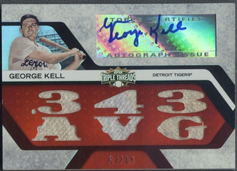 2008 Topps Triple Threads #74 George Kell Relics Jersey Auto #12/18