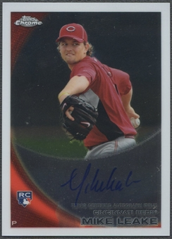 2010 Topps Chrome #176 Mike Leake Rookie Auto