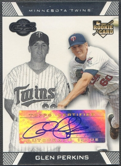 2007 Topps Co-Signers #117 Glen Perkins Rookie Auto