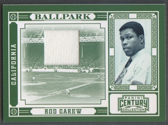 2010 Panini Century #6 Rod Carew Ballpark Materials Jersey #123/200