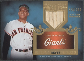 2011 Topps Tier One #TSR48 Willie Mays Top Shelf Relics Bat #223/399