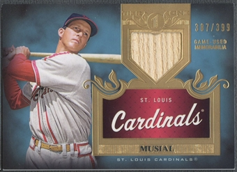 2011 Topps Tier One #TSR37 Stan Musial Top Shelf Relics Bat #387/399