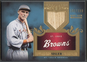 2011 Topps Tier One #TSR14 George Sisler Top Shelf Relics Bat #161/399