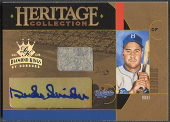 2005 Diamond Kings #8 Duke Snider Heritage Collection Signature Jersey Auto #50/50