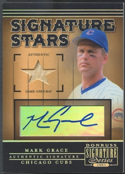 2005 Donruss Signature #6 Mark Grace Signature Stars Bat Auto