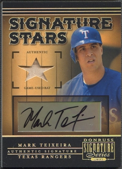 2005 Donruss Signature #1 Mark Teixeira Signature Stars Bat Auto