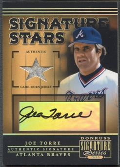 2005 Donruss Signature #12 Joe Torre Signature Stars Bat Auto