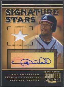 2005 Donruss Signature #7 Gary Sheffield Signature Stars Bat Auto