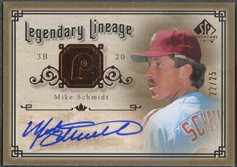2005 SP Legendary Cuts #MS Mike Schmidt Legendary Lineage Auto #22/25