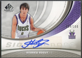 2005/06 SP Game Used #BO Andrew Bogut SIGnificance Auto #009/100
