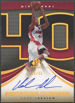 2005/06 SP Game Used #UH Udonis Haslem Signature Numbers Auto #08/40