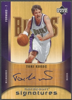 2005/06 Upper Deck Hardcourt #TK Toni Kukoc Hardcourt Signatures Auto