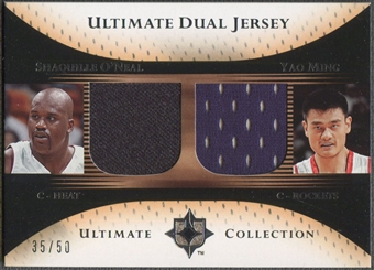 2005/06 Ultimate Collection #DJOM Shaquille O'Neal & Yao Ming Dual Jersey #35/50