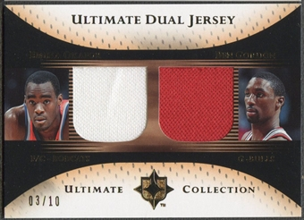 2005/06 Ultimate Collection #DJOG Emeka Okafor & Ben Gordon Dual Gold Jersey #03/10