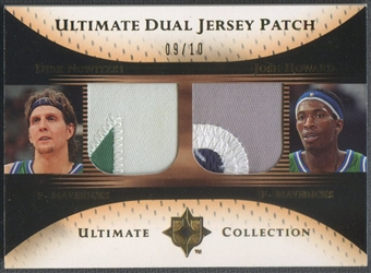 2005/06 Ultimate Collection #DPNH Dirk Nowitzki & Josh Howard Dual Gold Patch #09/10