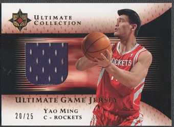 2005/06 Ultimate Collection #UJYM Yao Ming Gold Jersey #20/25