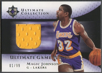 2005/06 Ultimate Collection #UJMA Magic Johnson Jersey #01/99