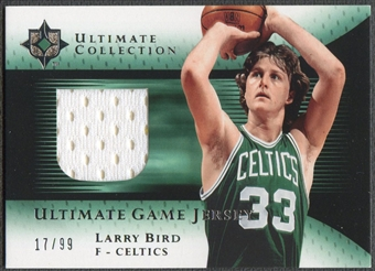 2005/06 Ultimate Collection #UJLB Larry Bird Jersey #17/99