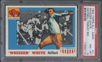 1955 Topps All American #21 Whizzer White (Gaynell Tinsley Bio) PSA 8 *8174