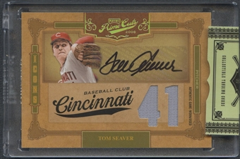 2008 Prime Cuts #44 Tom Seaver Icons Signature Jersey Number Jersey Auto #2/5