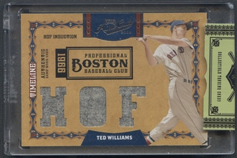 2008 Playoff Prime Cuts #37 Ted Williams Timeline Materials Trios HOF Jersey #1/5