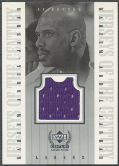 1999 Upper Deck Century Legends #KA Kareem Abdul-Jabbar Jerseys of the Century Jersey