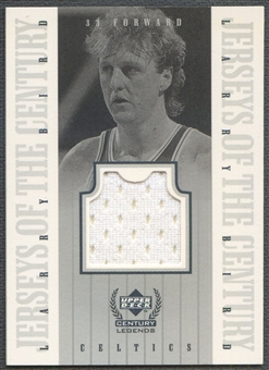 1999 Upper Deck Century Legends #LB Larry Bird Jerseys of the Century Jersey