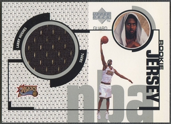 1998/99 Upper Deck #GJ45 Larry Hughes Rookie Game Jersey