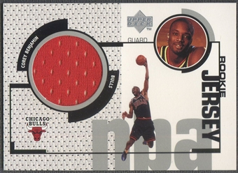 1998/99 Upper Deck #GJ41 Corey Benjamin Rookie Game Jersey