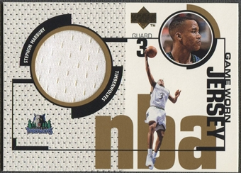 1998/99 Upper Deck #GJ33 Stephon Marbury Game Jersey