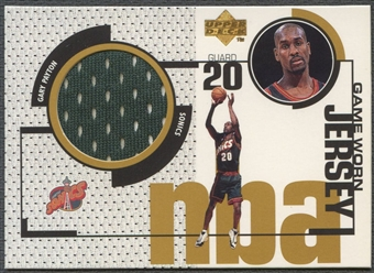 1998/99 Upper Deck #GJ16 Gary Payton Game Jersey